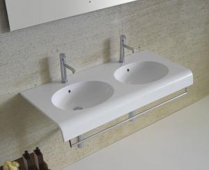 Lavabo sospeso per il bagno cm 110 x 50 Bowl+ Globo