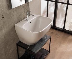 Lavabo sospeso per il bagno cm 62 x 50 Genesis Globo