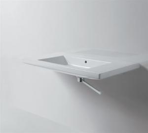 Lavabo sospeso per il bagno cm 110 x 50 Thin Azzurra