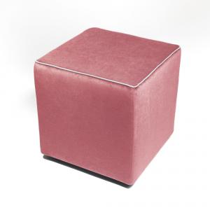Pouf Athos Plus Rosa - Bianco
