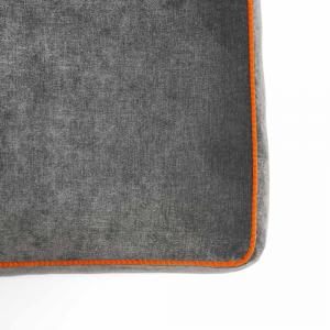 Pouf Athos Plus Grigio Antracite - Arancione