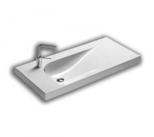 Lavabo sospeso per il bagno cm 100 Grandangolo Hatria
