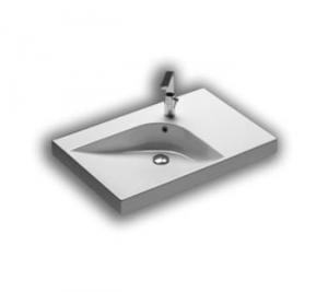 Lavabo sospeso per il bagno cm 75 sx Grandangolo Hatria