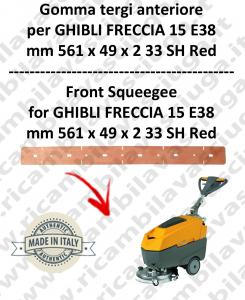 FRECCIA 15 E38 goma de secado delantera para fregadora  GHIBLI