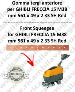 FRECCIA 15 M38 goma de secado delantera para fregadora  GHIBLI