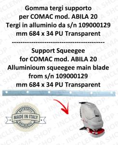 Bavette soutien pour autolaveuses COMAC ABILA 20 suceur in alluminio da s/n 109000129