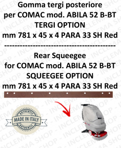 Bavette arrière pour autolaveuses COMAC ABILA 52 B-BT suceur option