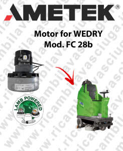 FC 28b motor de aspiración LAMB AMETEK para fregadora WEDRY