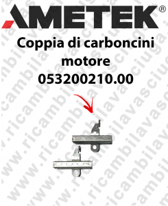 COPPIA di Carboncini motor de aspiración para motori Ametek  -  2 x Cod: 053200210.00