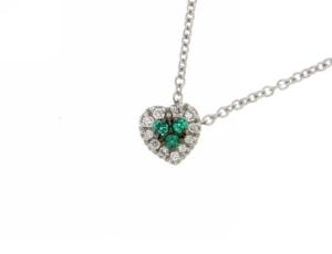 Girocollo Cuore Smeraldi e Brillanti