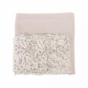 Copertina lana culla/carr. Rose Flora Picci