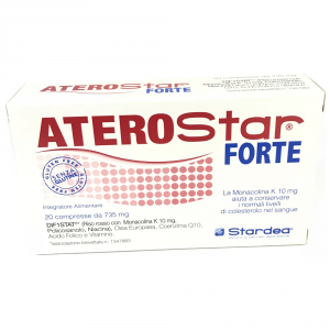 ATEROSTAR STRONG 20CPR dietary supplement containing RED YEAST RICE USEFUL to maintain NORMAL CHOLESTEROL LEVELS