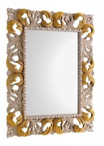 Specchiera Arte Fiorentina Royale Crema e Riccioli Oro 3sc