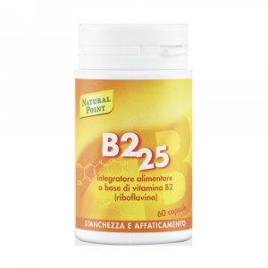 VITAMINA B2 25 - INTEGRATORE NATURAL POINT DI RIBOFLAVINA 60 CAPSULE