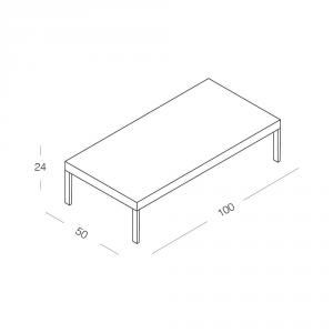 Tavolino San Francisco Bianco Lucido