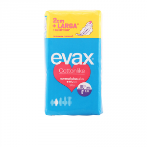 Evax Cottonlike Normal Plus With Wings Sanitary Towels 28 Units