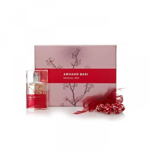 Armand Basi Sensual Red Eau De Toilette Spray 50ml Set 2 Parti