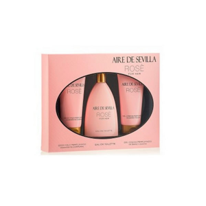 Aire De Sevilla Rose Eau De Toilette Spray 150ml Set 3 Parti