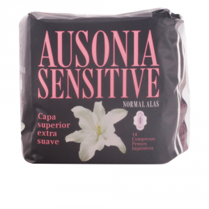 Ausonia Sensitive Normal With Wings Sanitary Towels 14 Units