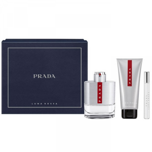 Prada Luna Rossa Eau De Toilette Spray 100ml Set 3 Parti 2017