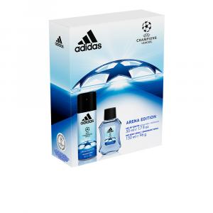 Adidas Uefa Champions League Arena Eau De Toillete Spray 50ml Set 2 Parti 2017