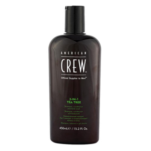 American Crew 3In1 Tea Tree Shampoo Conditioner And Body Wash 450ml