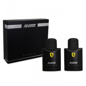 Ferrari Scuderia Black Eau De Toilette Spray 75ml Set 2 Pieces 2017