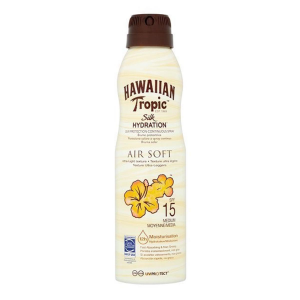 Hawaiian Tropic Silk Hydration Air Soft Protezione Solaire A Spray Continuo Spf15 177ml