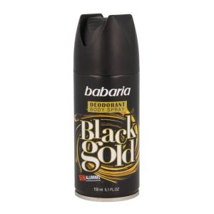 Babaria Black Gold Deodorante Spray 150ml+50ml Gratis