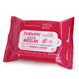 Babaria Vital Skin Make-Up Remover Wipes With Micellar Water Pack 20units