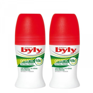 Byly Organic Extra Fresh Deodorante Roll On 2x50ml