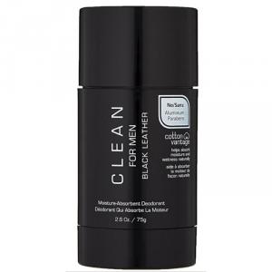 Clean For Man Black Leather Deodorante 75g