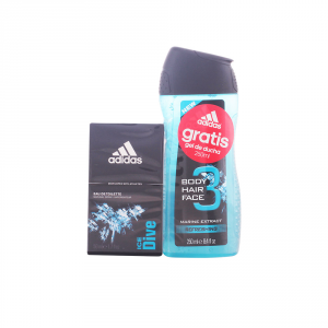 Adidas Men Ice Dive Eau De Toilette Spray 50ml Set 2 Parti