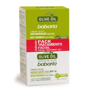 Babaria Olive Oil Trattamento Crema Notturna 50ml Set 2 Parti