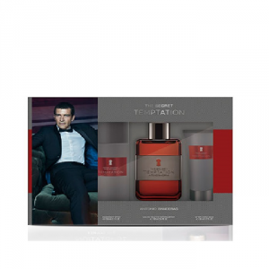 Antonio Banderas The Secret Temptation Man Eau De Toilette Spray 100ml Set 3 Parti 2017