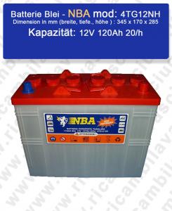 4TG12NH Blei Batterie 12V 120Ah 20/h NBA