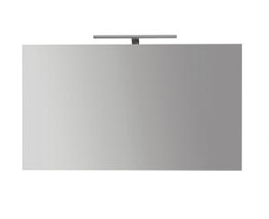 Specchiera da bagno filo lucido con lampada cm 120 x 70 Globo