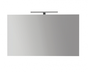 Specchiera da bagno filo lucido con lampada cm 110 x 70 Globo