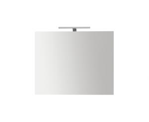 Specchiera da bagno filo lucido con lampada cm 70 x 70 Globo