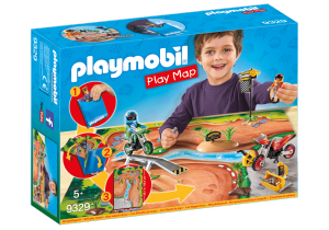PLAYMOBIL PLAY MAP - GARA DI MOTOCROSS 9329