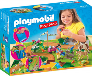 PLAYMOBIL PLAY MAP - PASSEGGIATA A CAVALLO 9331