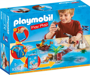 PLAYMOBIL PLAY MAP - IL TESORO DEI PIRATI 9328