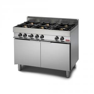 Cucina a gas 6 fuochi forno maxi a gas