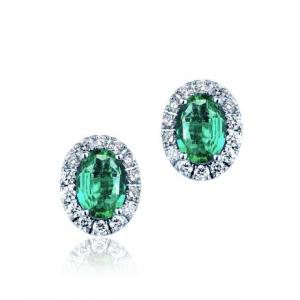 Orecchini Smeraldi e Brillanti