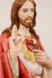 Statua Sacro Cuore di Gesù in resina PASQ h. 60