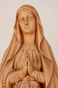 Statua Madonna di Lourdes in resina patinata PASQ80 h. 80