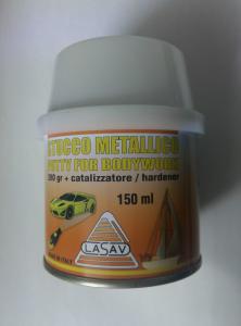 STUCCO METALLICO CARROZZERIA lasav ML. 150 GR 280 + CATALIZZATORE professionale