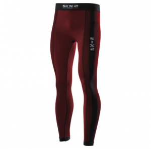 LEGGINGS CARBON UNDERWEAR SIXS PNX DARK RED