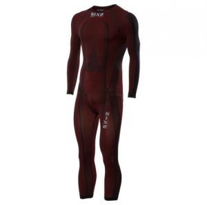 SOTTOTUTA MOTO INTEGRALE CARBON UNDERWEAR SIXS STX DARK RED