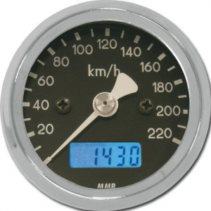 48MM BASIC SPEEDO MPH WHT FACE CHR HSG